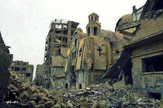Monasteries & churches destroyed