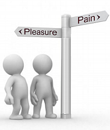 Pain and Pleasure crossroad