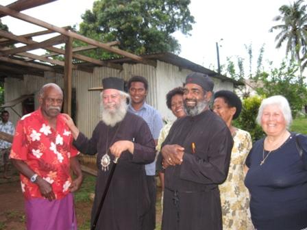 Fr Barnabas Nair with Metropolitan Amphilochios