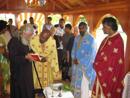 Metropolitan Amphilochios Frs Bartholomew Barnabas and George