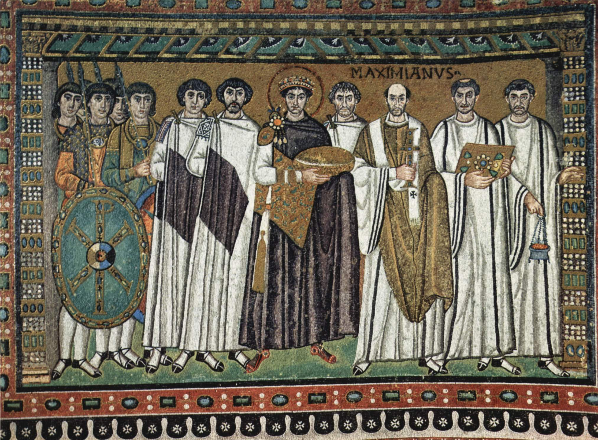 Emperor Justinian mosaic at San Vitale_Ravenna