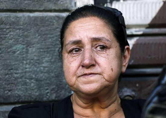 Maaloulan Christian woman mourns at funeral