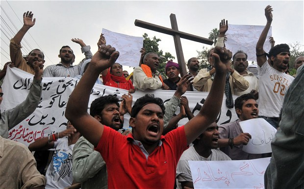 Pakistani Christian protests