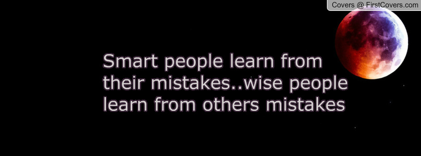 Quote regarding learning from mistakes