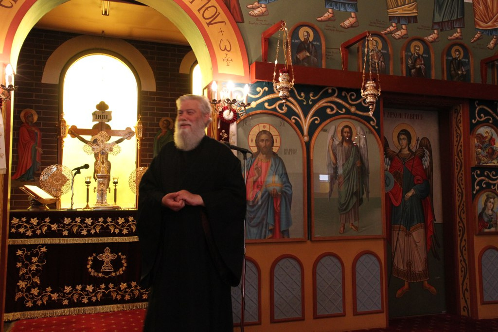 Fr Dimtrios and the Renmark church interior