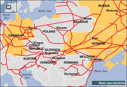 Ukrainian gas pipelines