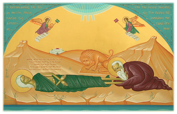 Burial of St Mary of Egypt