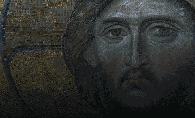 Mosaic of Christ from Constantinople