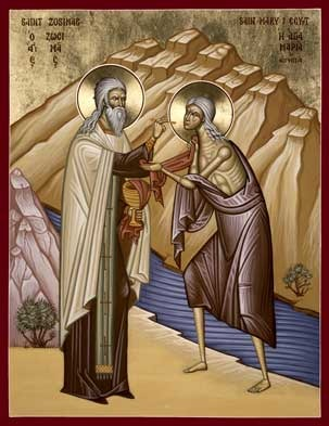 St Mary of Egypt and St Zosimas