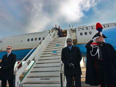 John Kerry stopover in Rome