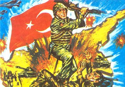 Turkish propaganda poster on invasion of Cyprus01
