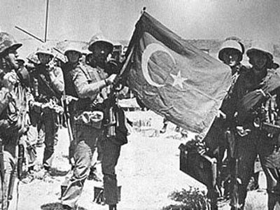 Turkish soldiers in Cyprus