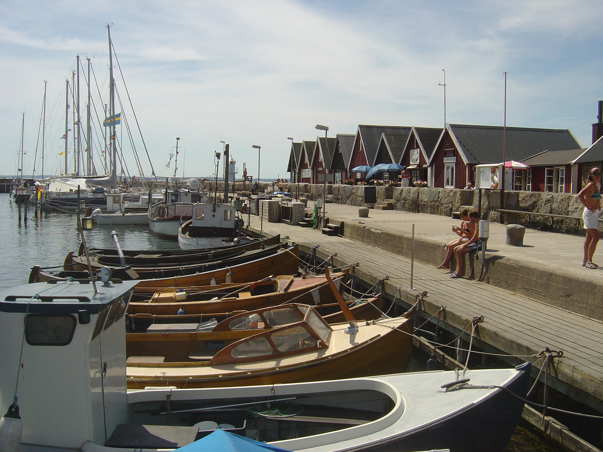 Boats docked at Swedish harbour