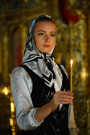 Example of typical Orthodox Christian deportment