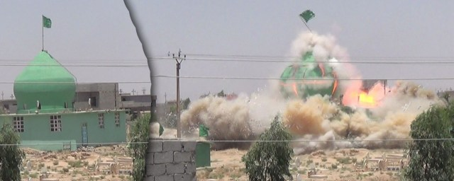Shia mosque destroyed in Bashir01