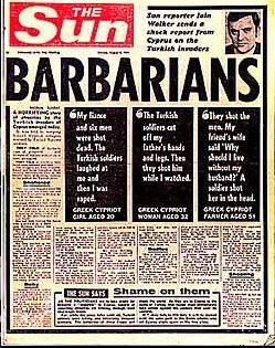 Sun Newspaper - Barbarians