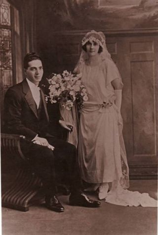 Wedding of Con Caristinos and Eugenia Girdis in 1923 - Australia