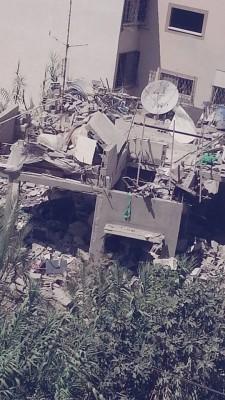 Destroyed Jaleel home in Gaza
