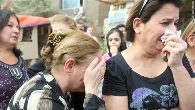 Distraught Iraqi Christians