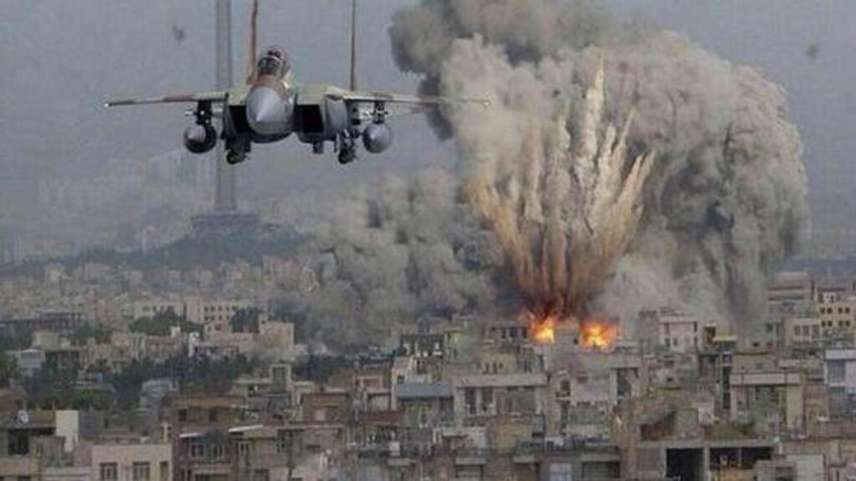 Gaza being bombed