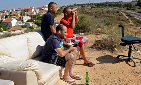 Israelis lounge as Gaza is bombed