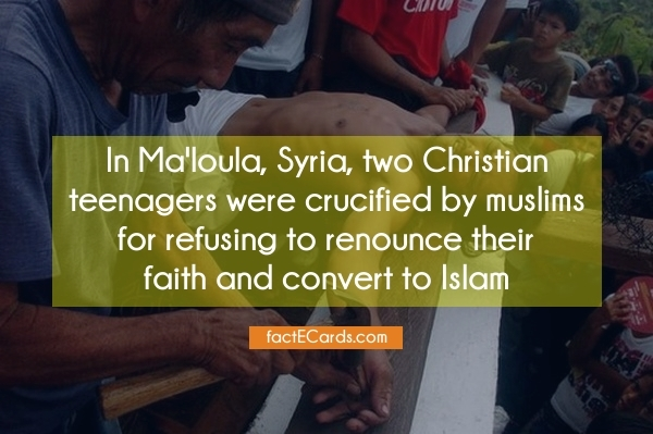 Remember the two crucified Christian teenagers from Maloula in Syria