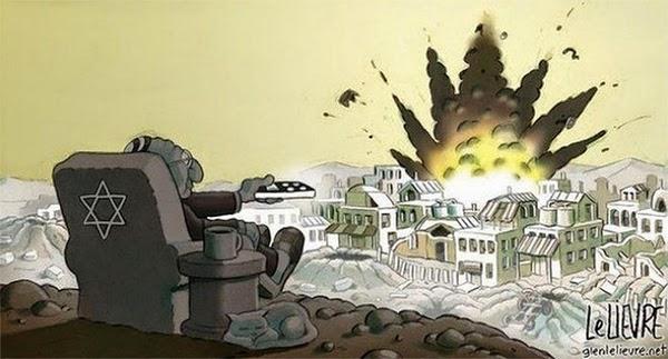 remote control bombing of Gaza