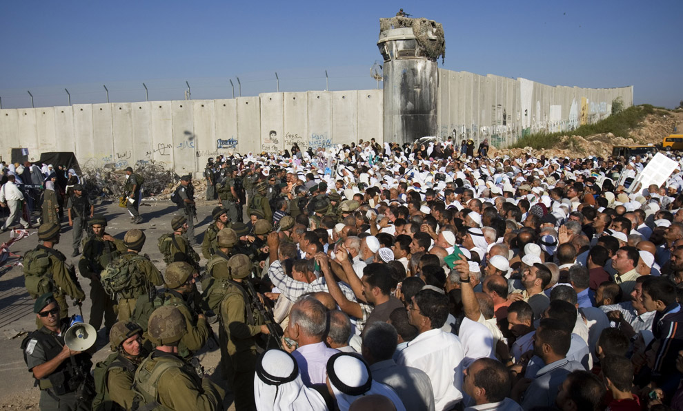 The dividing wall in the West Bank