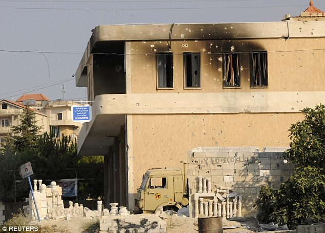 This army building in Arsal was damaged by jihadist gunfire in an attack this week